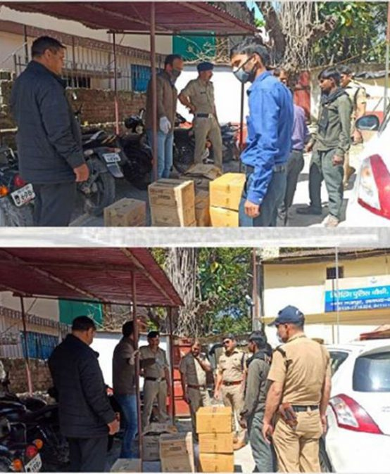 Five Hundred Kits of daily essential items to  The Rajpur Police Station