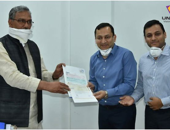 The Unison Group donates Rs 21 Lakh towards Chief Ministers Relief Fund
