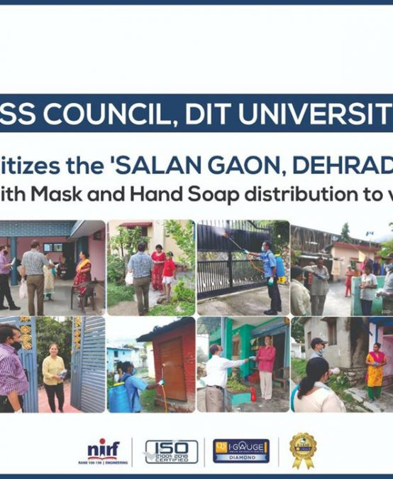 NSS Council of DIT University sanitized the Salan Gaon in Dehradun