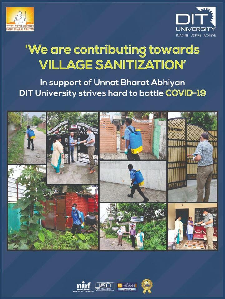 DIT University is contributing towards 'Village Sensitization' in Dehradun under Unnat Bharat Abhiyaan
